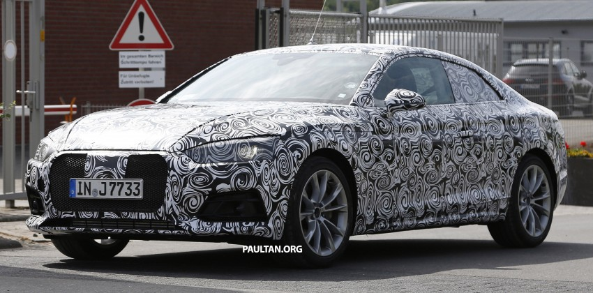 SPYSHOTS: 2017 Audi A5 caught for the first time Image #350968