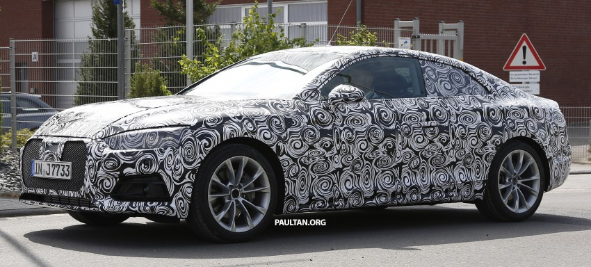 SPYSHOTS: 2017 Audi A5 caught for the first time Image #350967