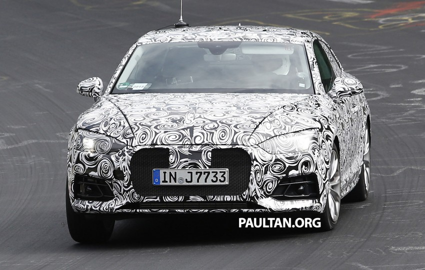 SPYSHOTS: 2017 Audi A5 caught for the first time Image #350962