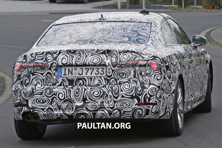 SPYSHOTS: 2017 Audi A5 caught for the first time Image #350652