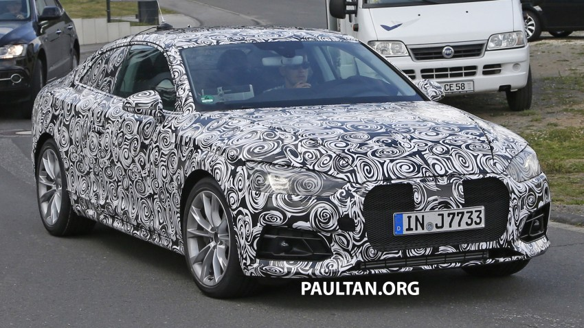 SPYSHOTS: 2017 Audi A5 caught for the first time Image #350634