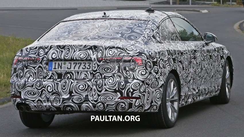 SPYSHOTS: 2017 Audi A5 caught for the first time Image #350651