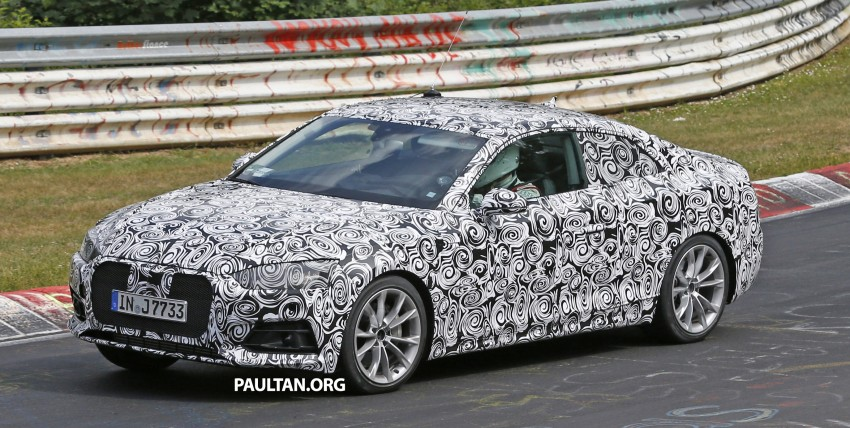 SPYSHOTS: 2017 Audi A5 caught for the first time Image #350975