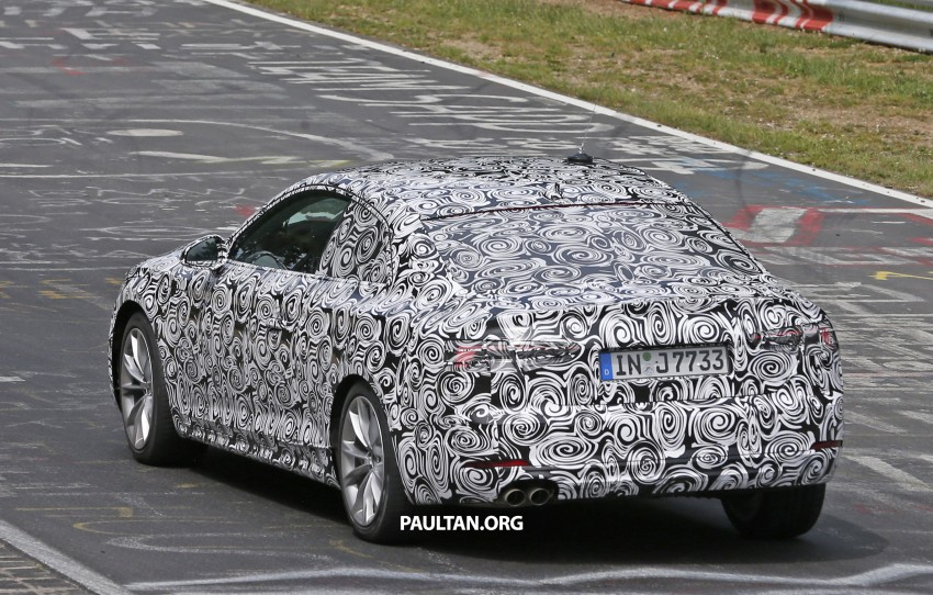 SPYSHOTS: 2017 Audi A5 caught for the first time Image #350991