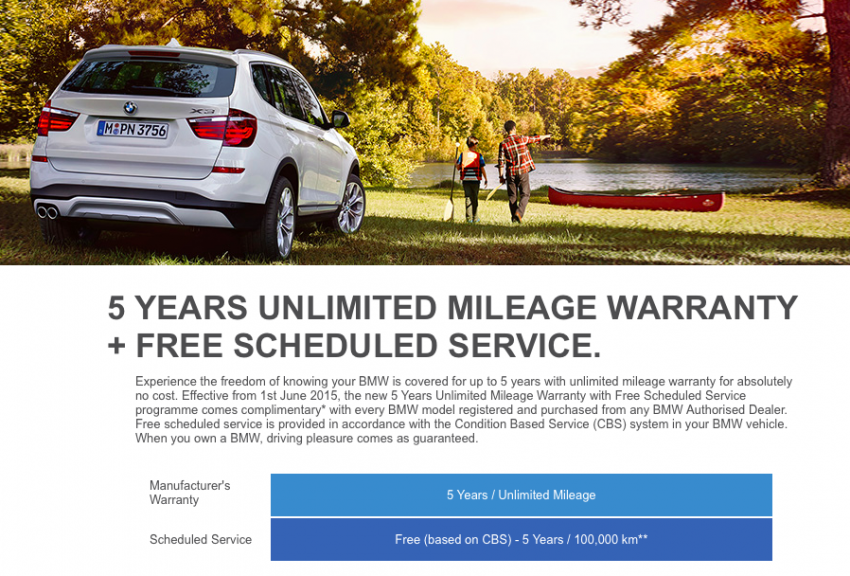 BMW Malaysia now offers five-year unlimited mileage manufacturer warranty, 5-year/100,000 km free service Image #346052