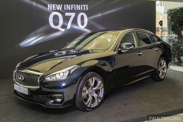 infiniti q70 facelift launched in malaysia from rm295k. Black Bedroom Furniture Sets. Home Design Ideas