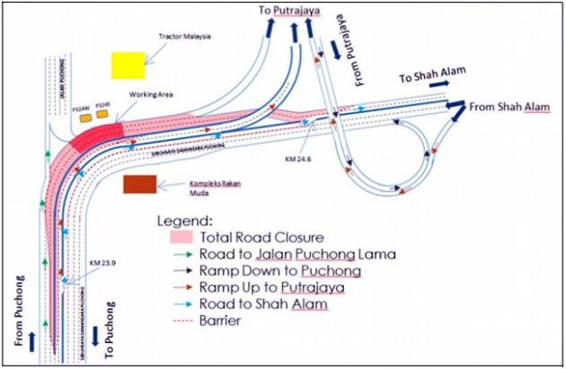 LDP-lane-closure-map