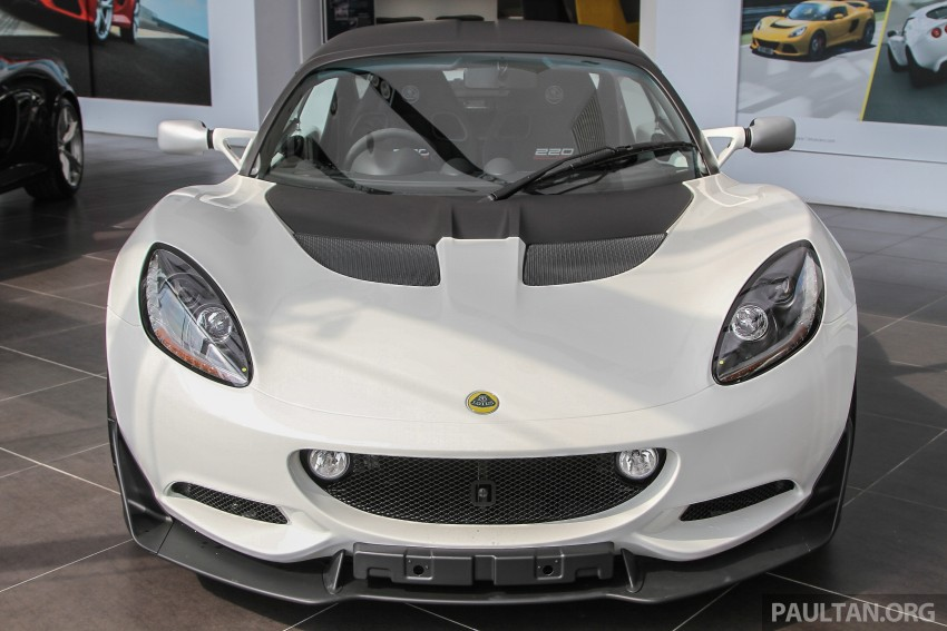 Lotus Elise 220 Cup now in Malaysia, from RM316k; Exige S Automatic and run-out Evora S also on display Image #353432