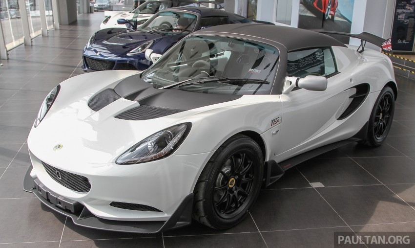 Lotus Elise 220 Cup now in Malaysia, from RM316k; Exige S Automatic and run-out Evora S also on display Image #353433