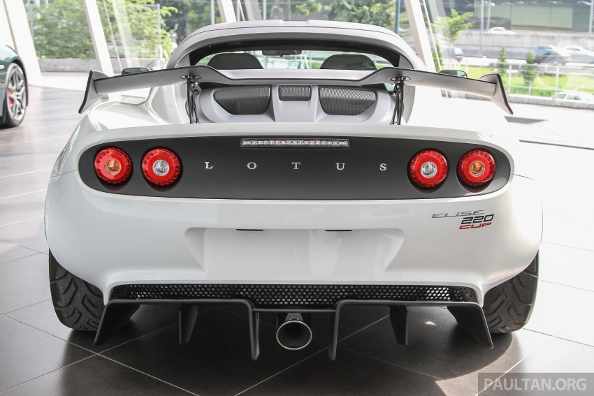 Lotus Elise 220 Cup now in Malaysia, from RM316k; Exige S Automatic and run-out Evora S also on display Image #353442