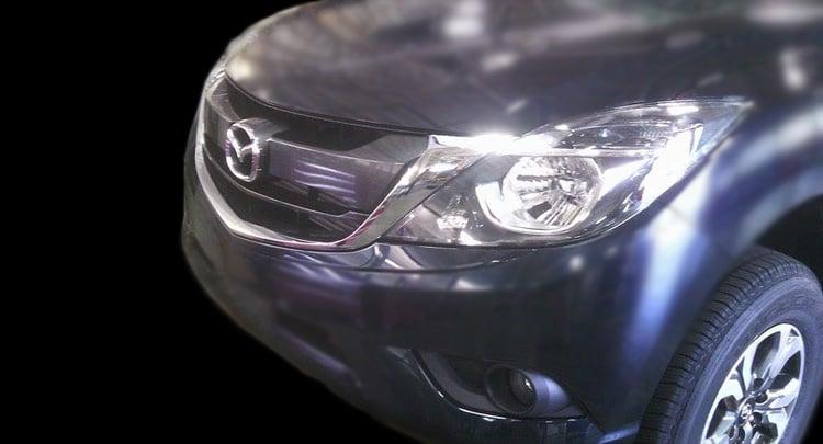SPYSHOTS: Mazda BT-50 pick-up facelift in Thailand Image #351421