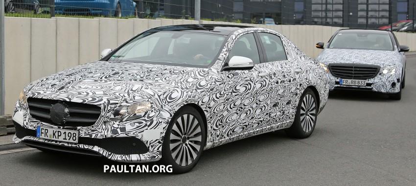 SPYSHOTS: W213 Mercedes-Benz E-Class strips camo Image #354672