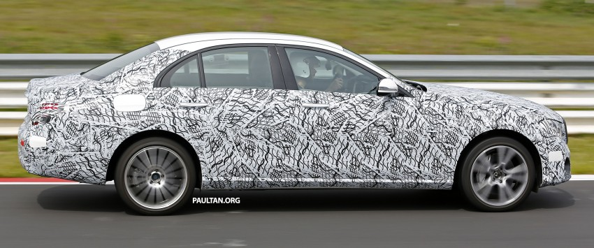 SPIED: W213 Mercedes-Benz E-Class hits the 'Ring Image #352170
