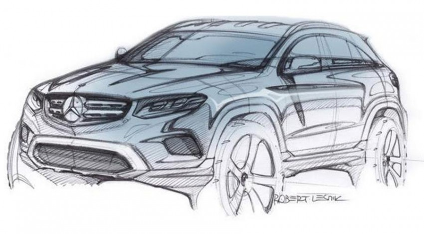 Mercedes-Benz GLC – sketch revealed, June 17 debut Image #350255