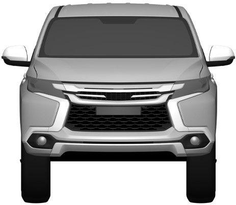 New Mitsubishi Pajero Sport revealed via patent filing Image #346261