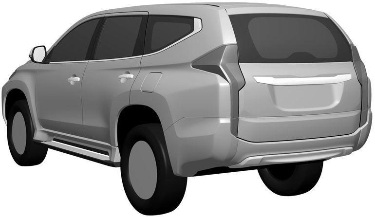 New Mitsubishi Pajero Sport revealed via patent filing Image #346263