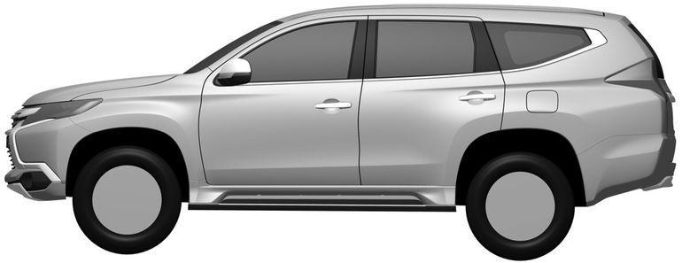 New Mitsubishi Pajero Sport revealed via patent filing Image #346264