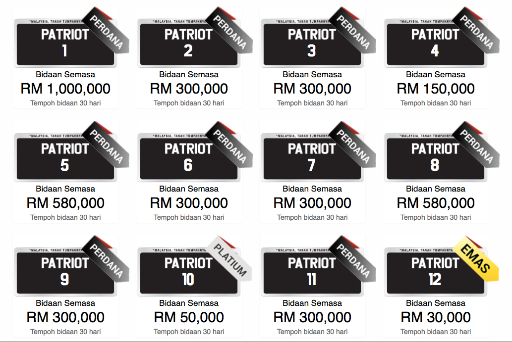 Car Plates For Sale Malaysia