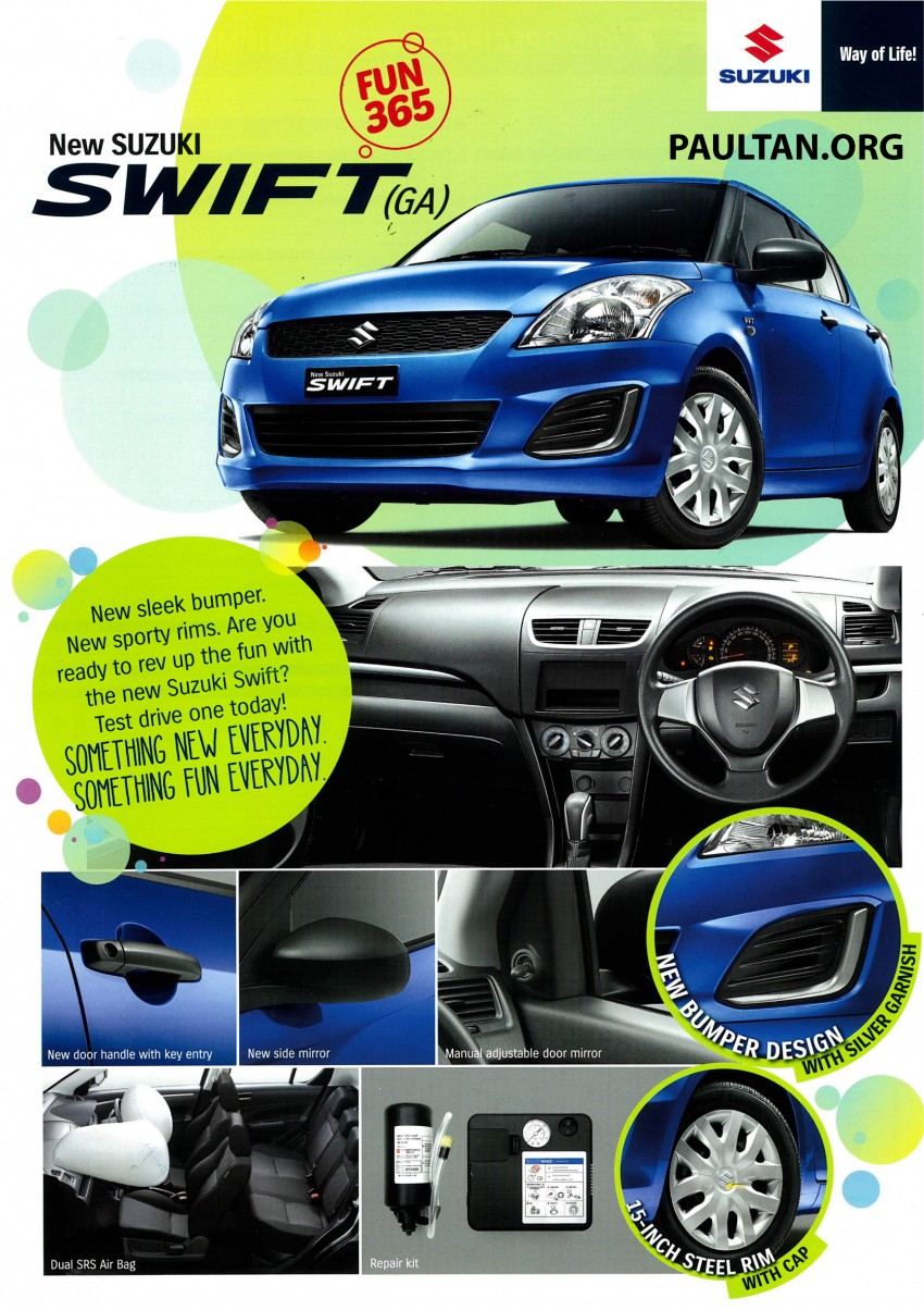 Suzuki Swift facelift officially previewed in Malaysia Image #354394