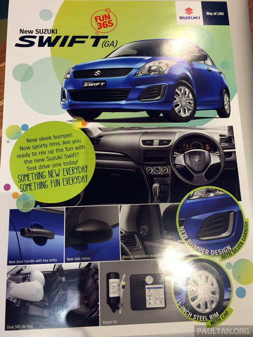 Suzuki Swift facelift officially previewed in Malaysia Image #354313