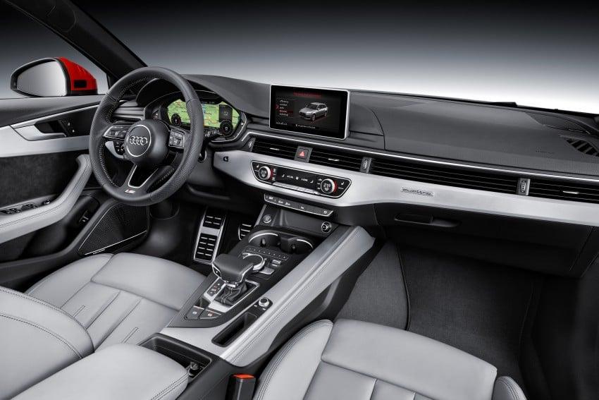 2016 B9 Audi A4 revealed – familiar looks, new tech Image #354995