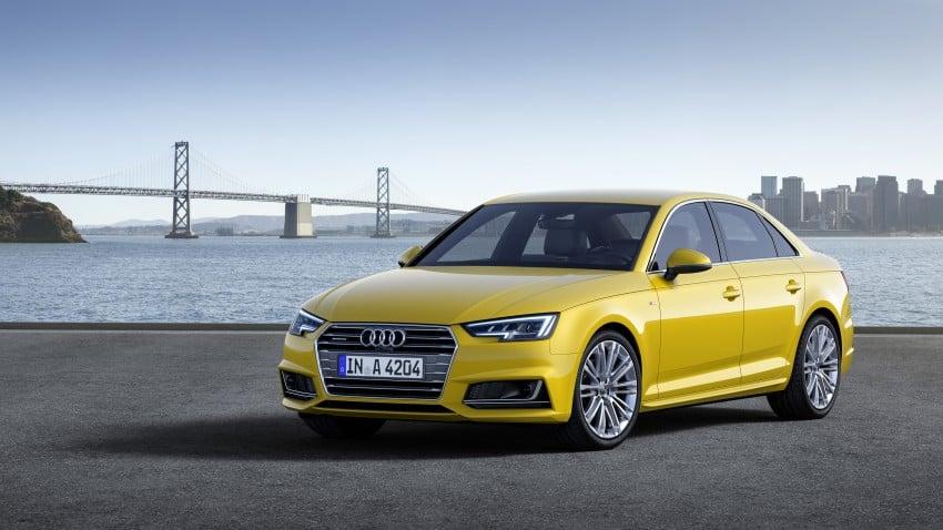2016 B9 Audi A4 revealed – familiar looks, new tech Image #354959