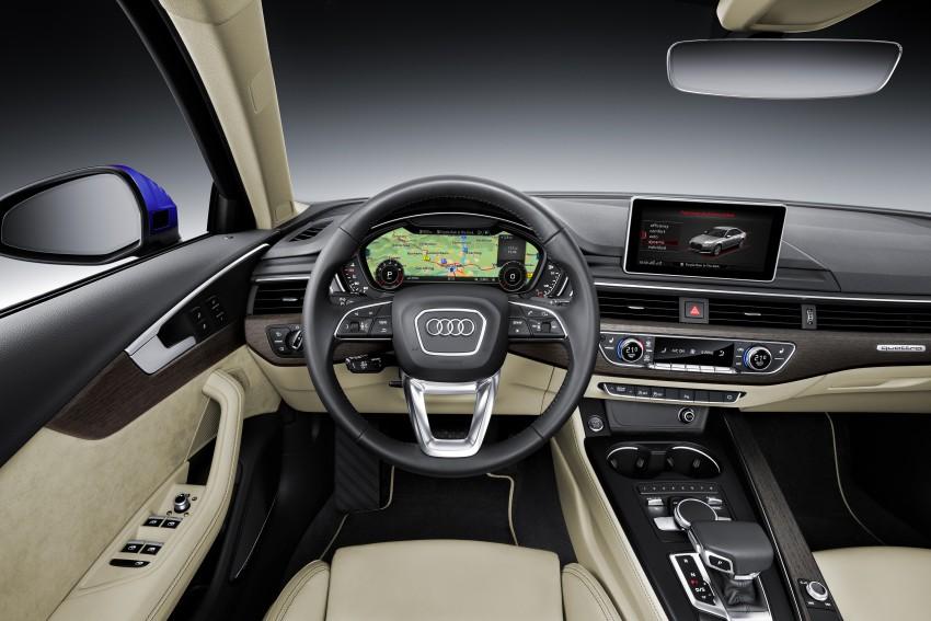 2016 B9 Audi A4 revealed – familiar looks, new tech Image #354965