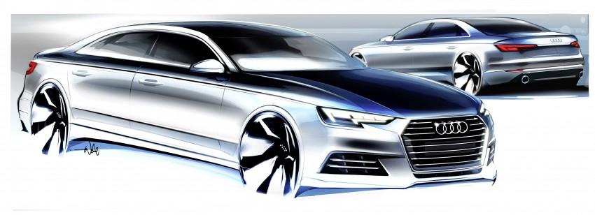 2016 B9 Audi A4 revealed – familiar looks, new tech Image #354971