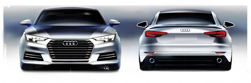 2016 B9 Audi A4 revealed – familiar looks, new tech Image #354978