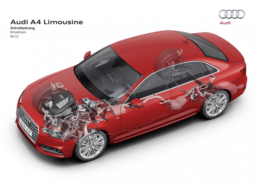 2016 B9 Audi A4 revealed – familiar looks, new tech Image #354986