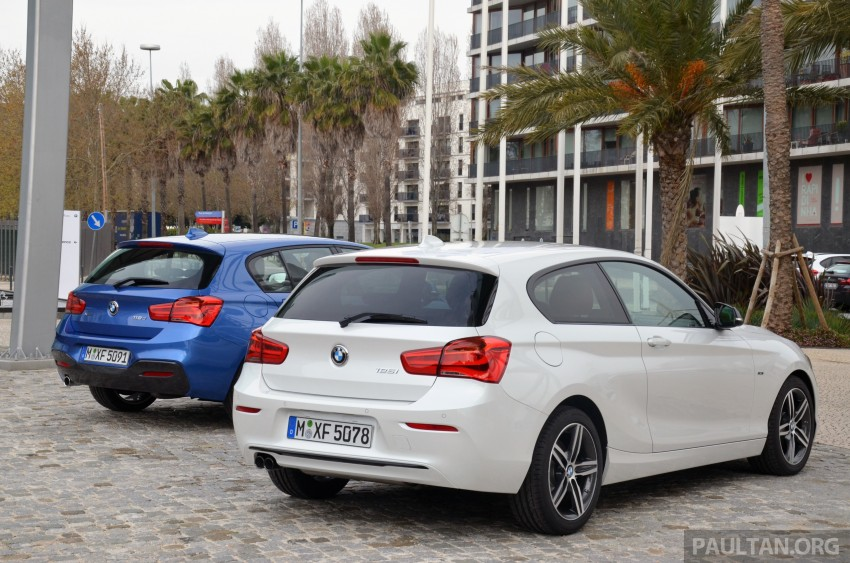 DRIVEN: BMW 1 Series facelift in Lisbon – 120d, M135i Image #348889