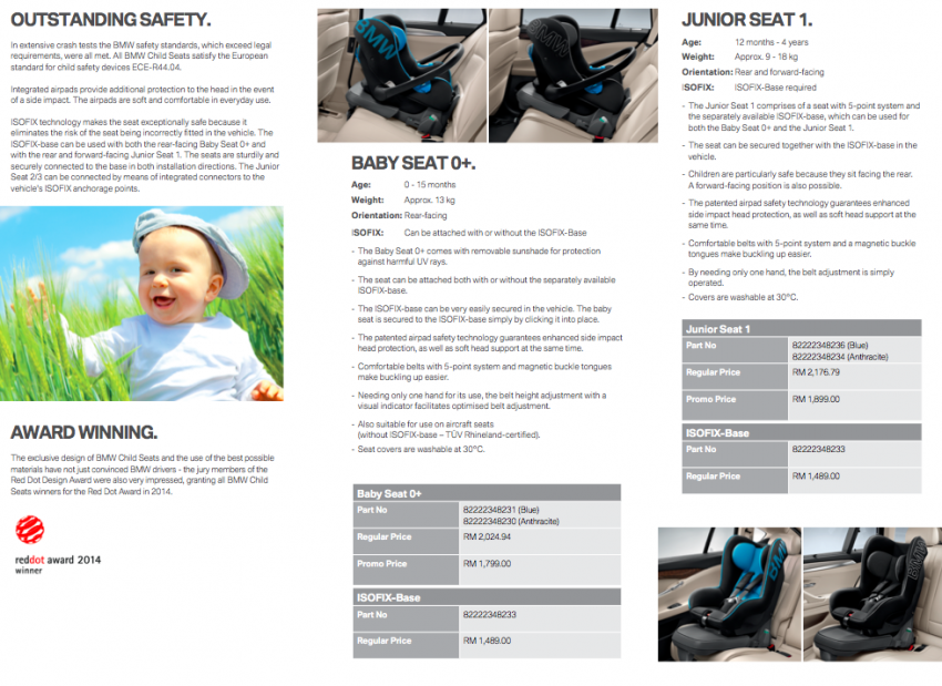 BMW Child Seats available at RM1,799-1,999 promo Image #349950