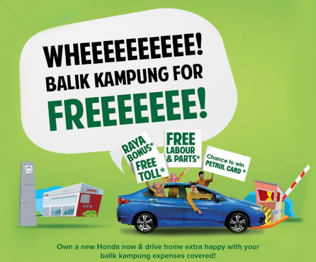 Own A New Honda This Raya And Enjoy Free Service Toll More For Your Balik Kampung Journey