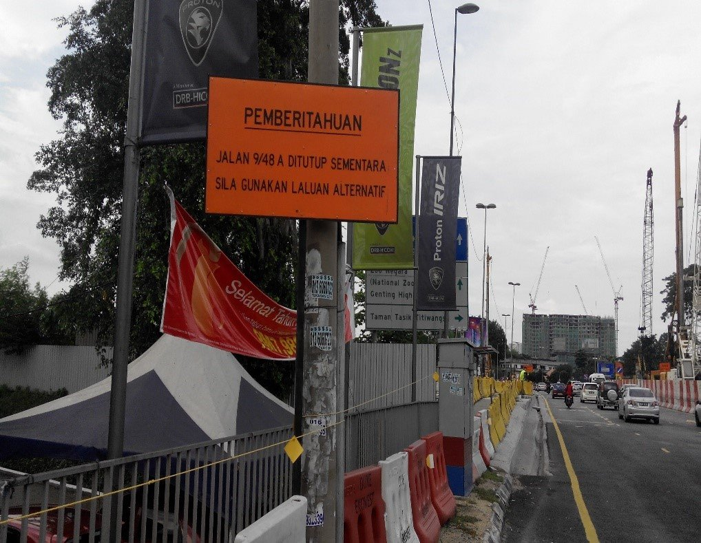 jalan-pahang-lane-closure