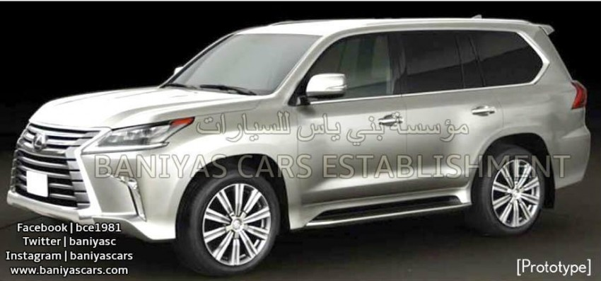 2016 Lexus LX facelift leaked again, including interior Image #351359