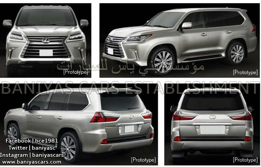 2016 Lexus LX facelift leaked again, including interior Image #351361