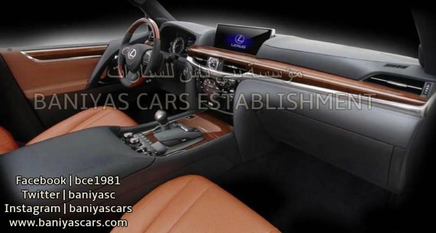 2016 Lexus LX facelift leaked again, including interior Image #351362