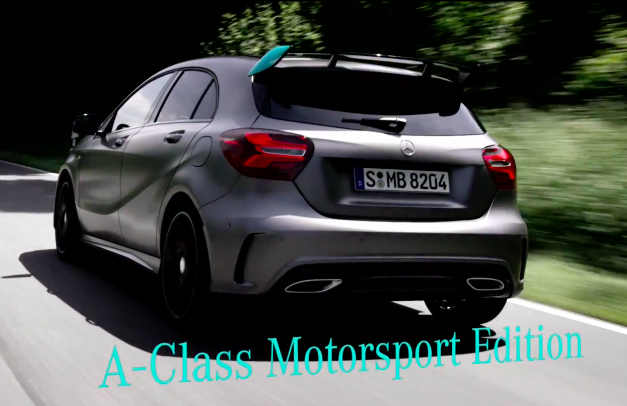 video w176 mercedes benz a class facelift detailed. Black Bedroom Furniture Sets. Home Design Ideas