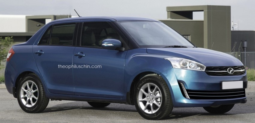 Perodua D63D sedan rendered based on Buddyz Image #347473