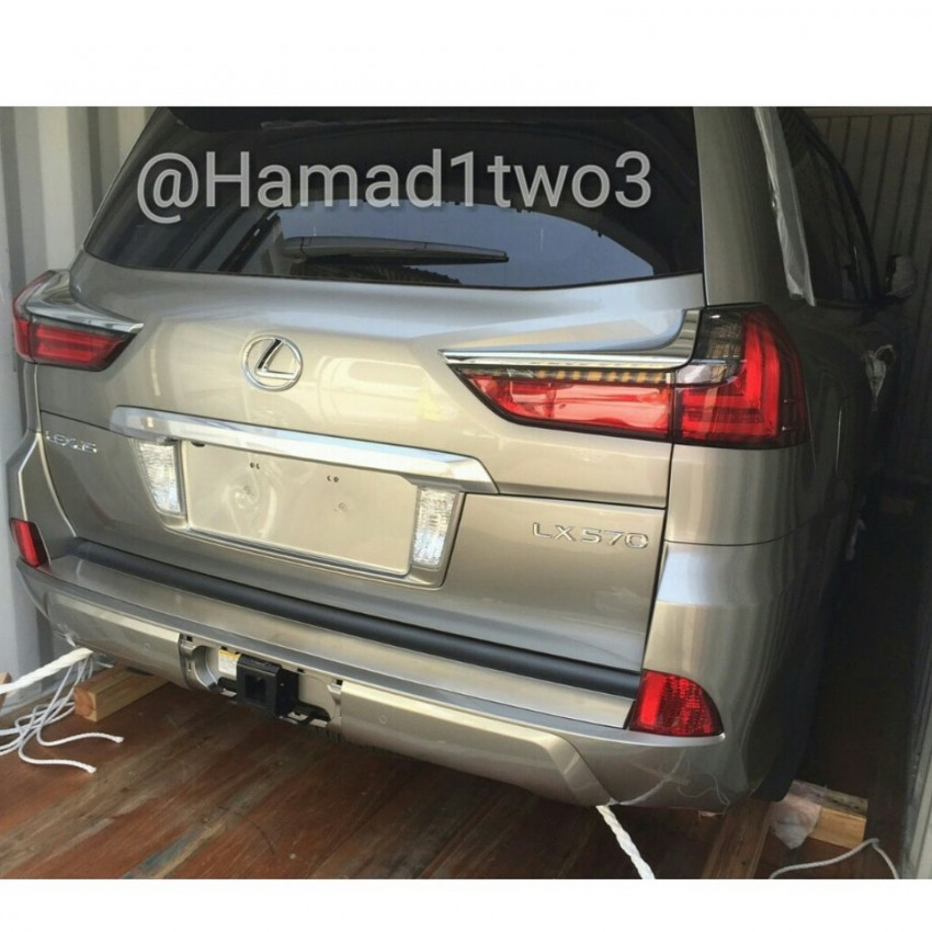 2016 Lexus LX spotted again, this time in the metal Image #362171