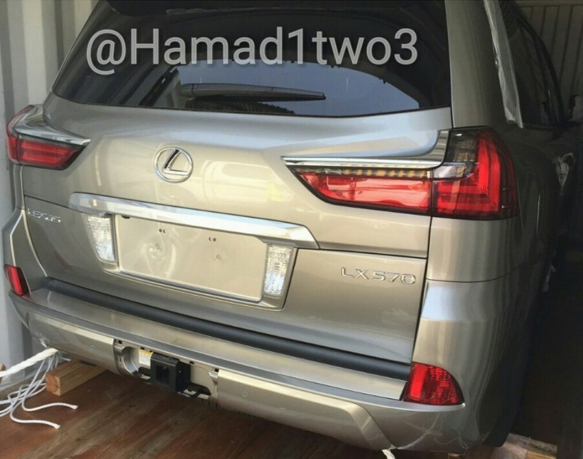 2016 Lexus LX spotted again, this time in the metal Image #362189