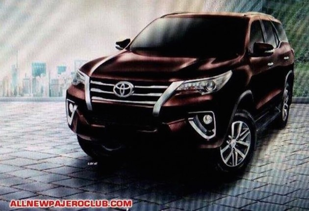 2016 Toyota Fortuner First Exterior And Interior Pics