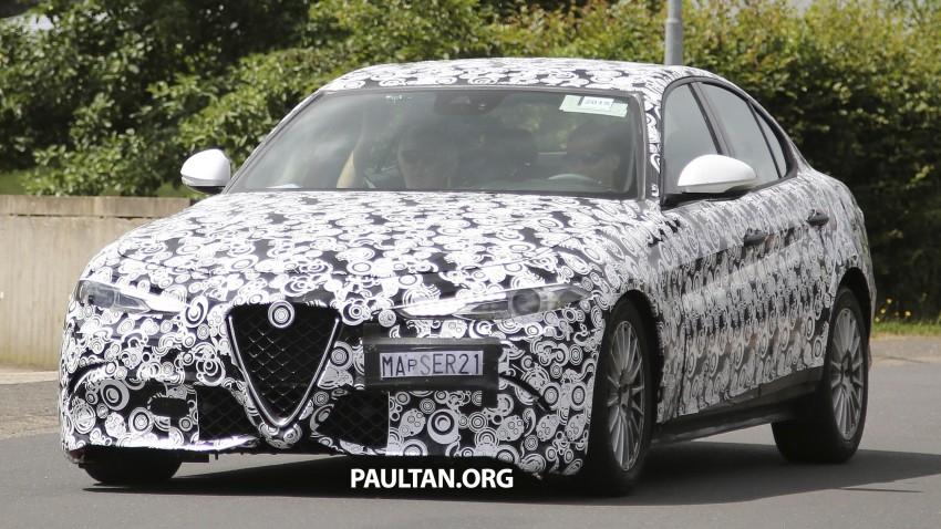 SPIED: Alfa Romeo Giulia in standard, non-QV form Image #359784