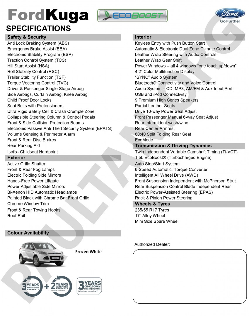 Ford Kuga 1.5L EcoBoost now in Malaysia – RM165k Image #359456