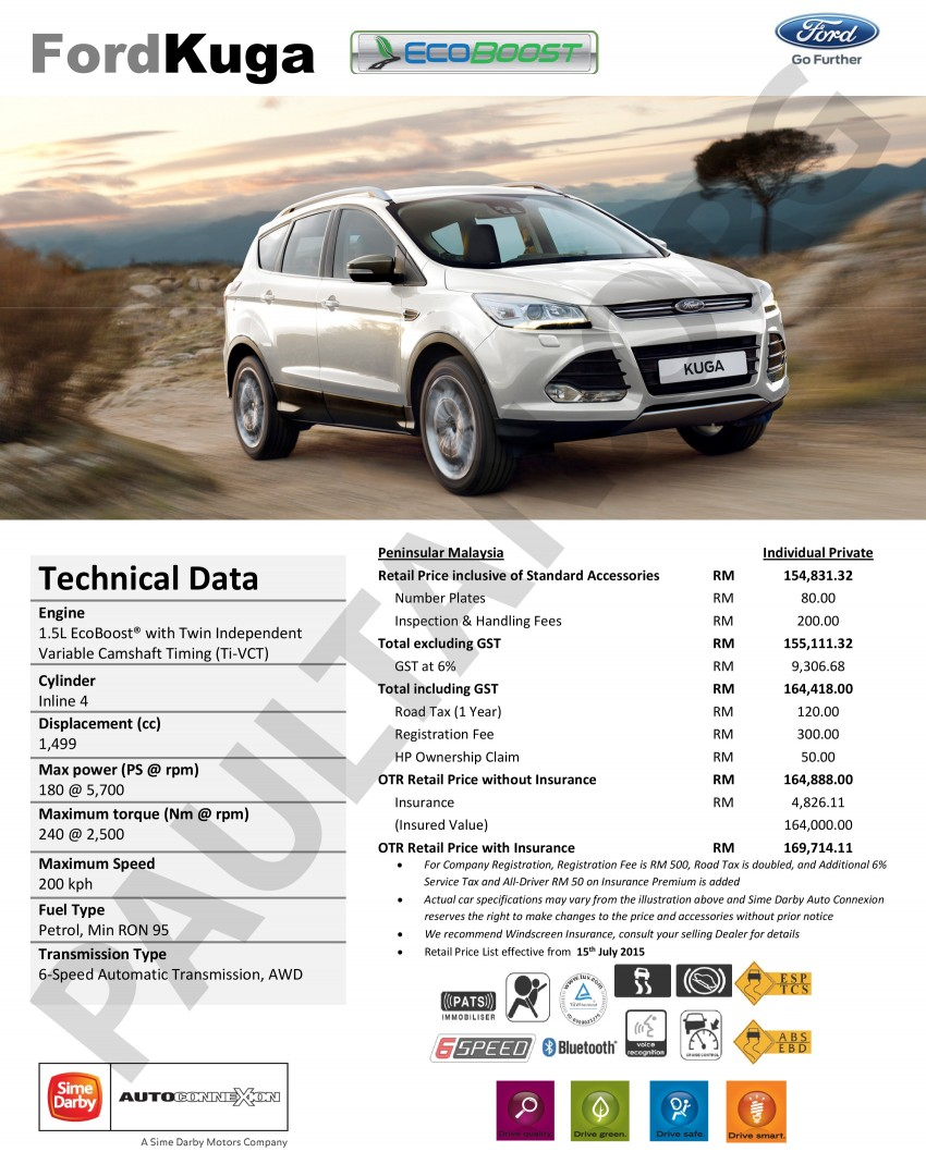 Ford Kuga 1.5L EcoBoost now in Malaysia – RM165k Image #359457