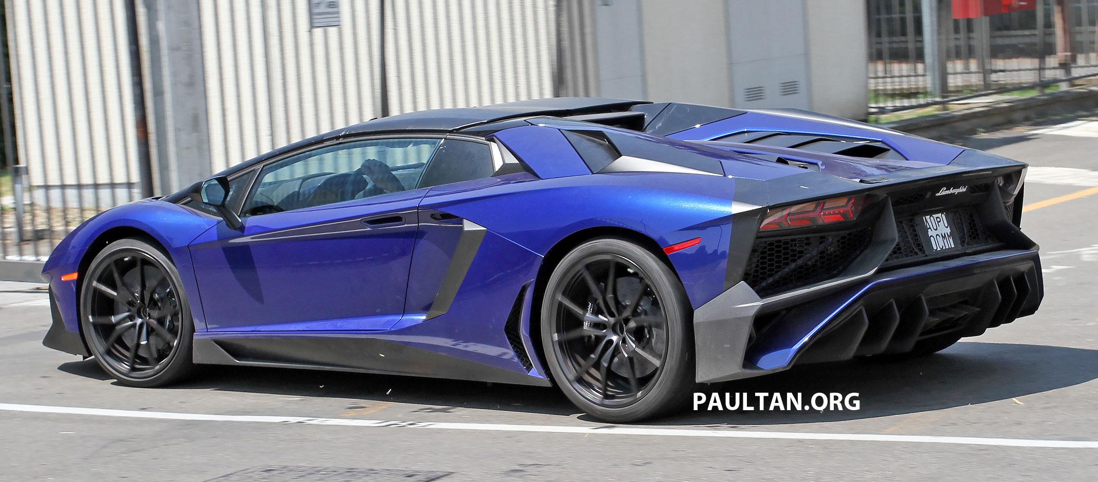 Spied Lamborghini Aventador Lp750 4 Sv Roadster Captured Sans Camo September Debut In