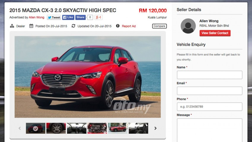 Mazda CX-3 spotted on <em>oto.my</em>: RM120k, launch soon? Image #359899