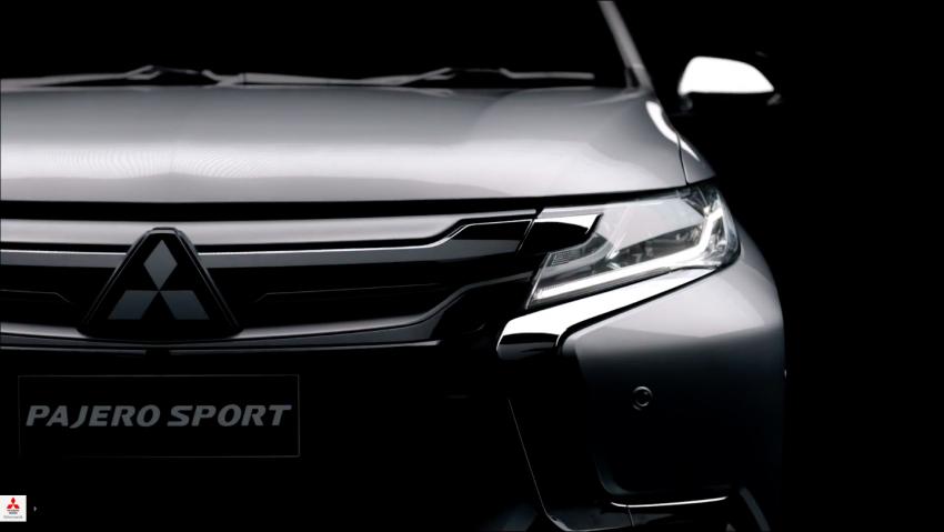 VIDEO: 2016 Mitsubishi Pajero Sport in new teaser clip Image #359439