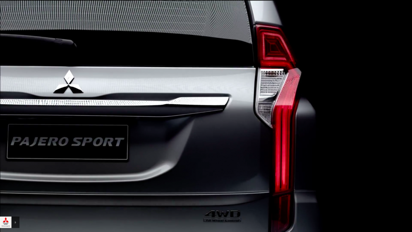 VIDEO: 2016 Mitsubishi Pajero Sport in new teaser clip Image #359430