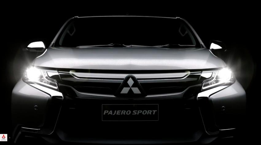 VIDEO: 2016 Mitsubishi Pajero Sport in new teaser clip Image #359429